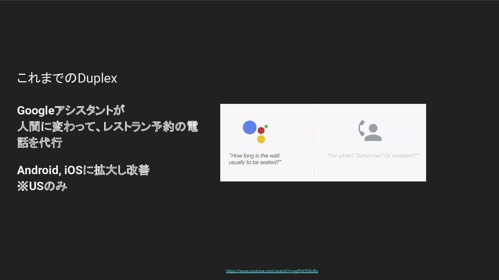 これまでのDuplex Googleアシスタントが 人間に変わって、レストラン予約の電 話を代...