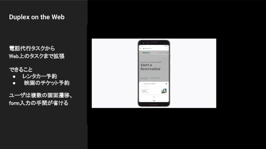 Duplex on the Web 電話代行タスクから Web上のタスクまで拡張  できる...