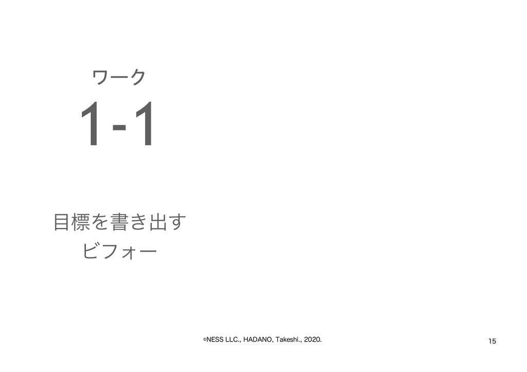 """˜/&44--$)""""%""""/05BLFTIJ  ワーク 1-1 ..."""