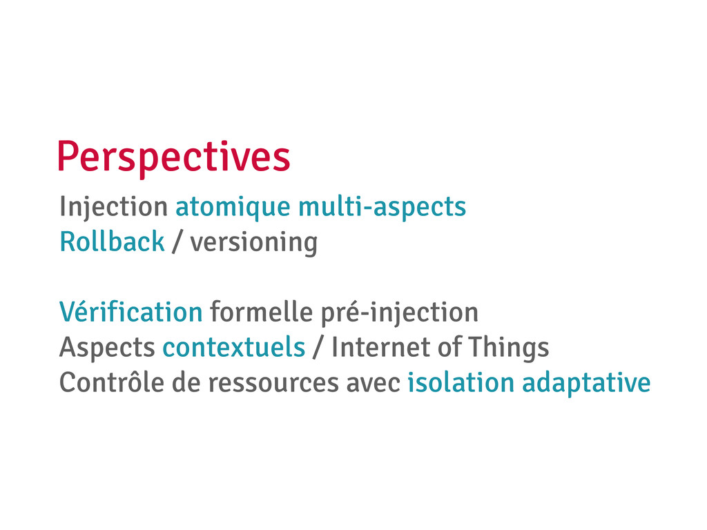 Injection atomique multi-aspects Rollback / ver...