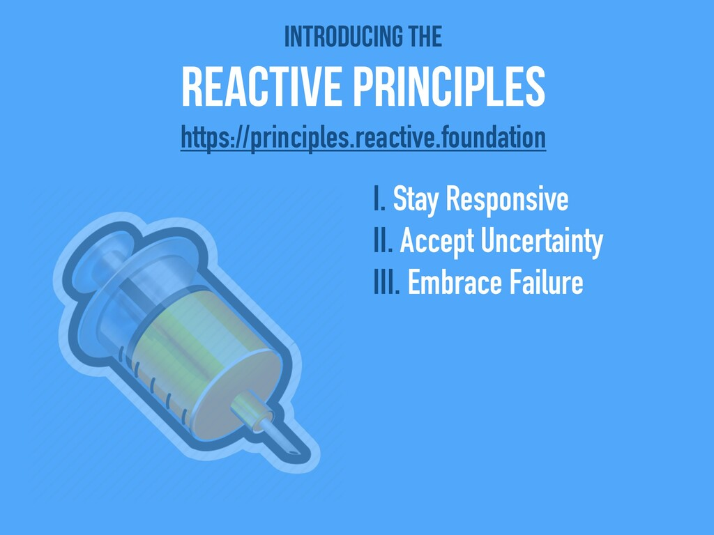 Introducing the   Reactive Principles I. Stay R...