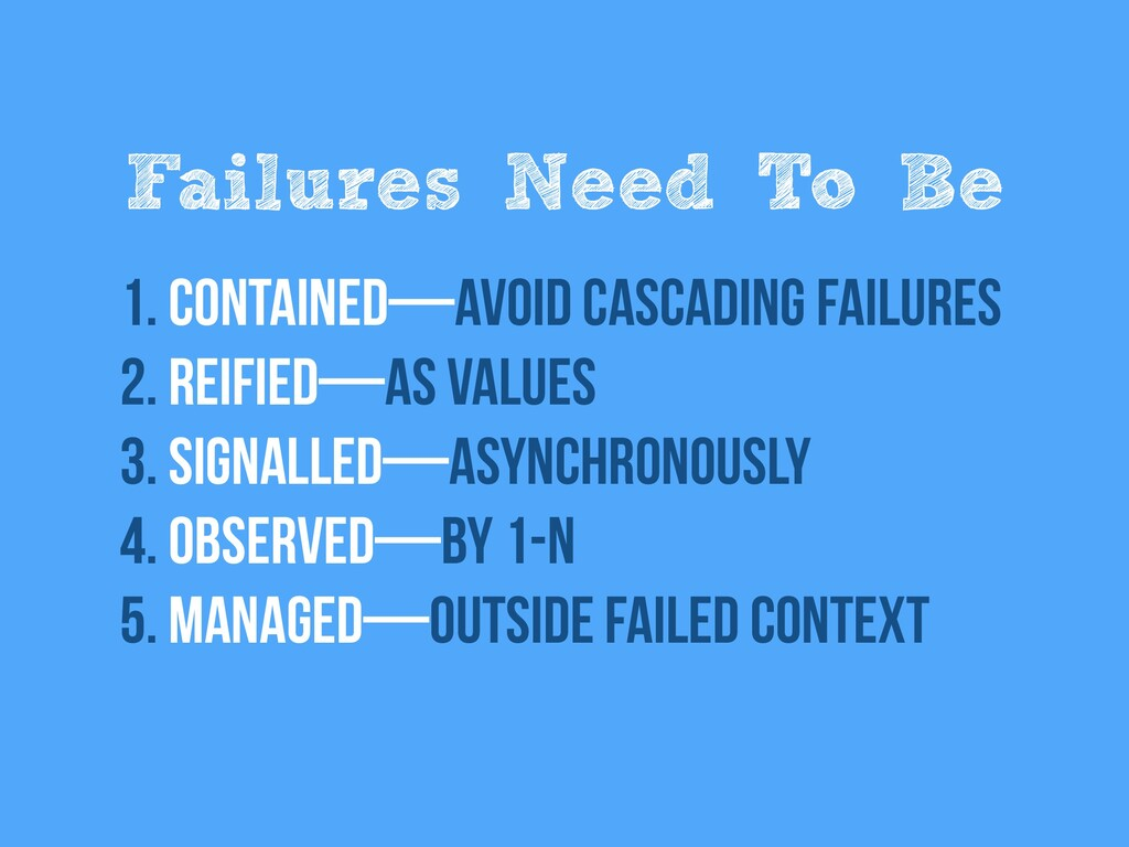 Failures Need To Be 1. Contained—Avoid cascadin...