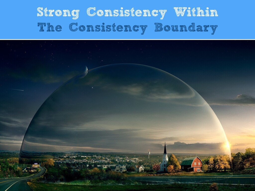 Strong Consistency Within  The Consistency Bou...