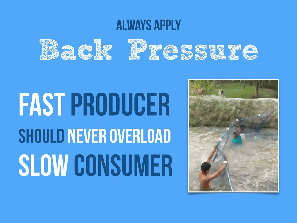 fast producer   Should never overload   slow co...