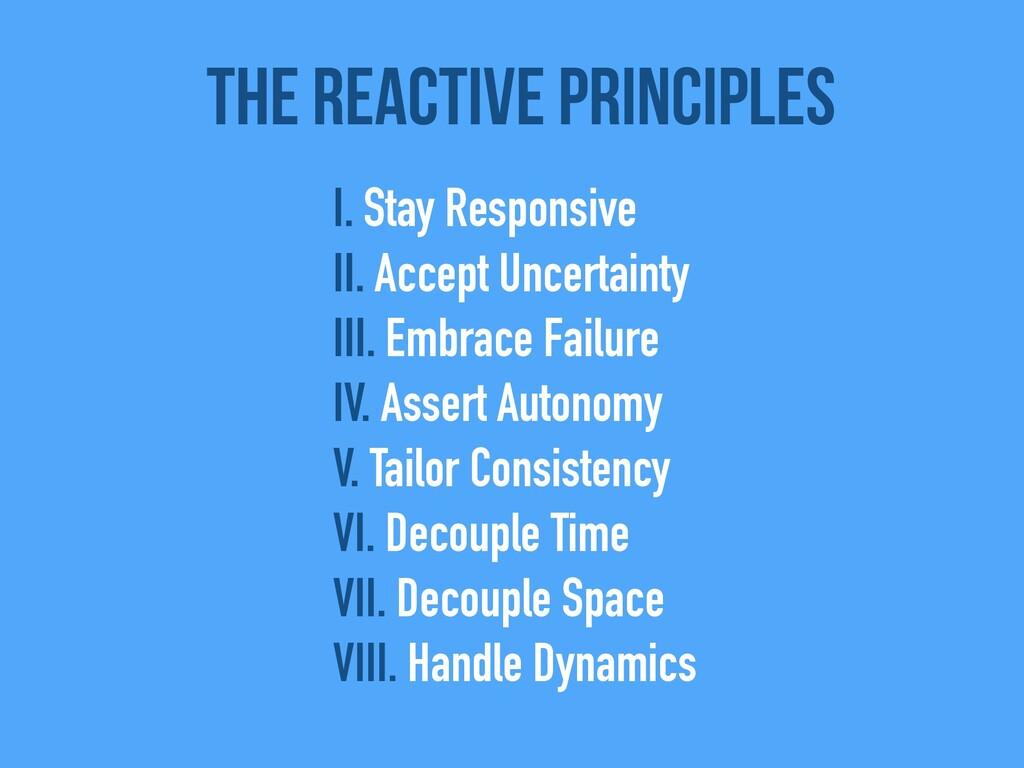 The Reactive Principles I. Stay Responsive   II...