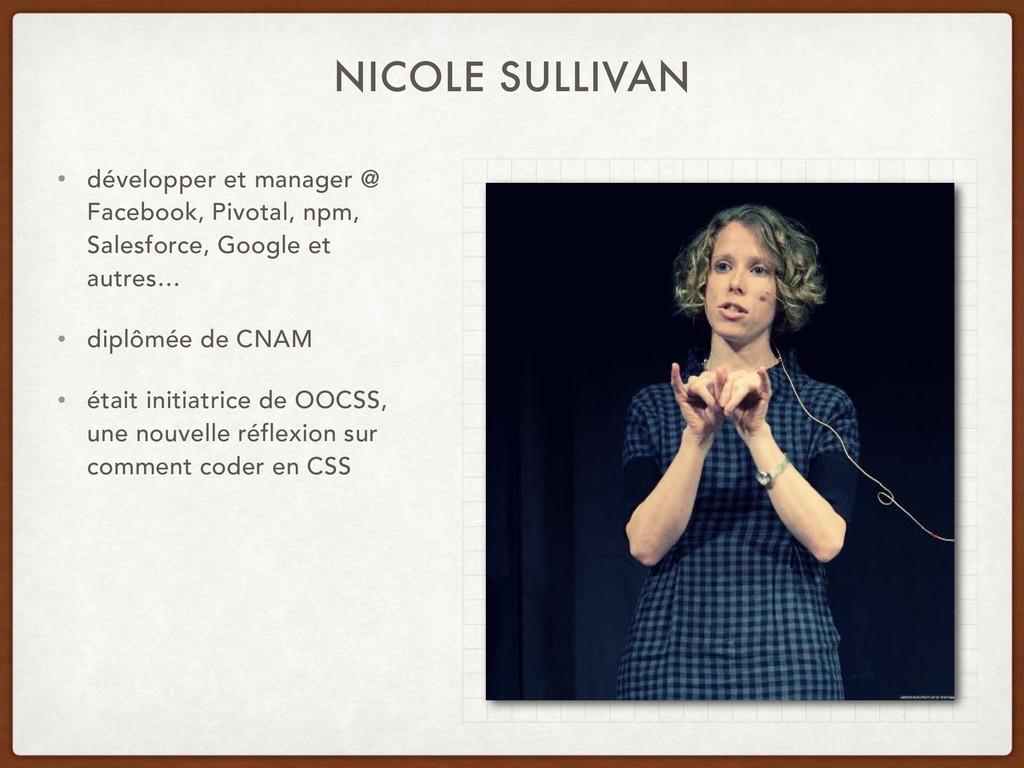 NICOLE SULLIVAN • développer et manager @ Faceb...