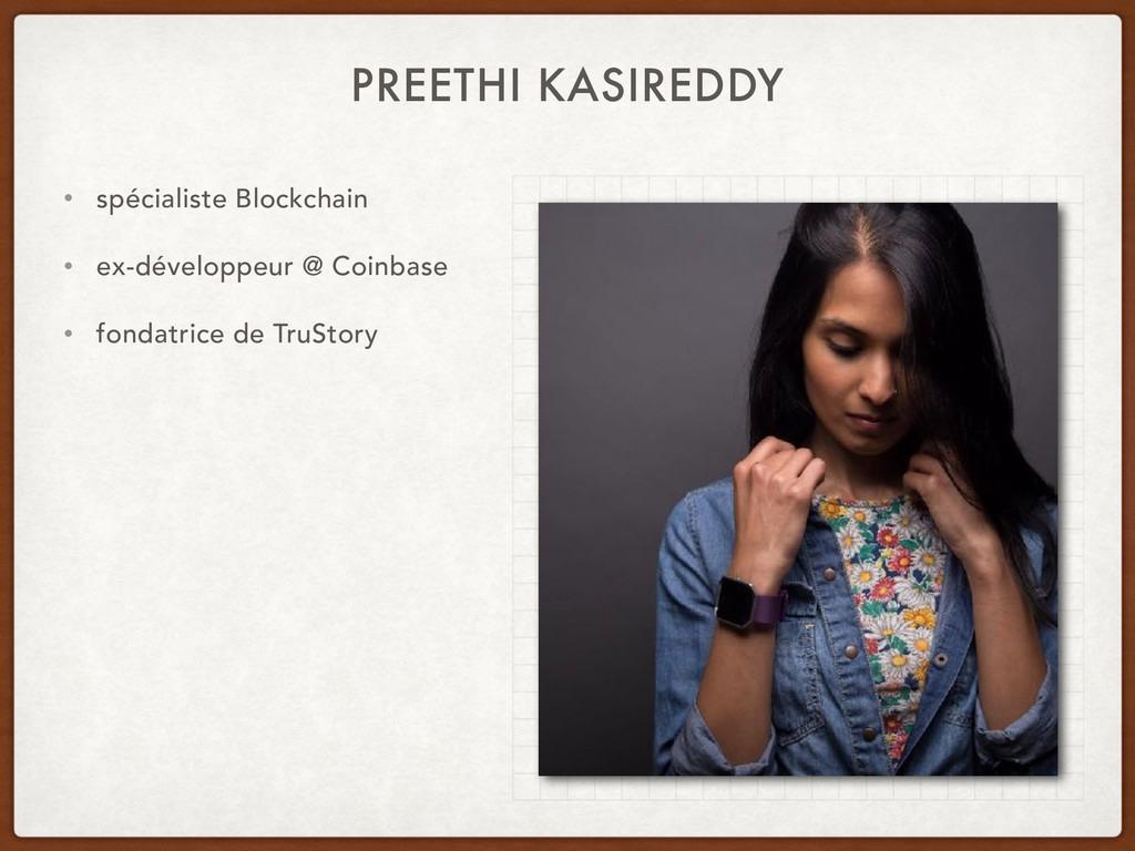 PREETHI KASIREDDY • spécialiste Blockchain • ex...