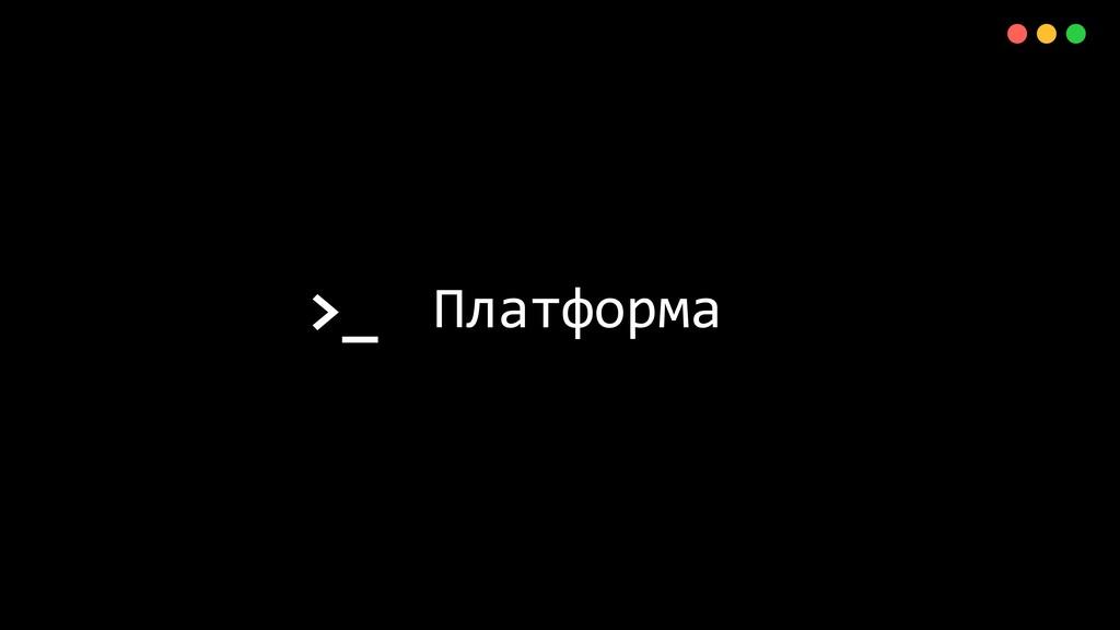 >_ X Платформа 11