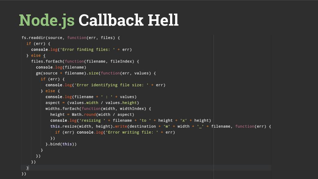Node.js Callback Hell