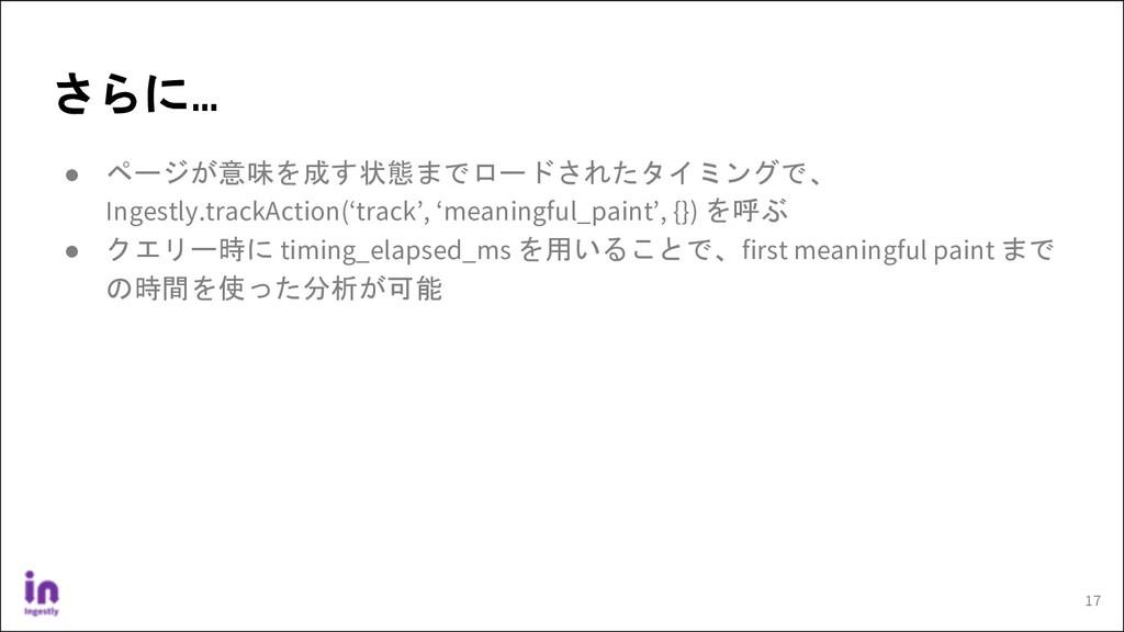 ● ページが意味を成す状態までロードされたタイミングで、 Ingestly.trackActi...