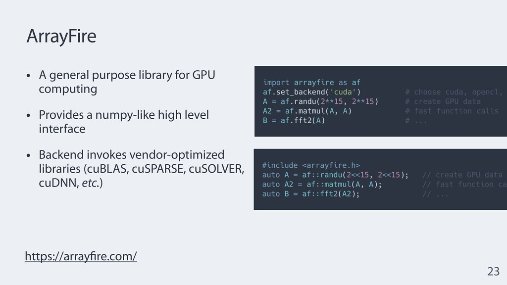 ArrayFire • A general purpose library for GPU c...