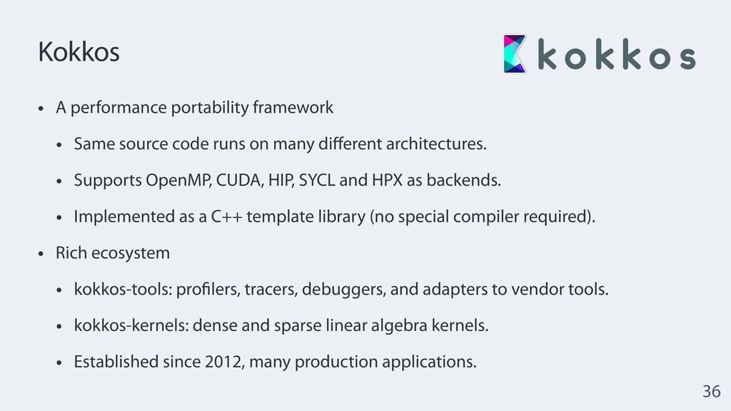 Kokkos • A performance portability framework   ...