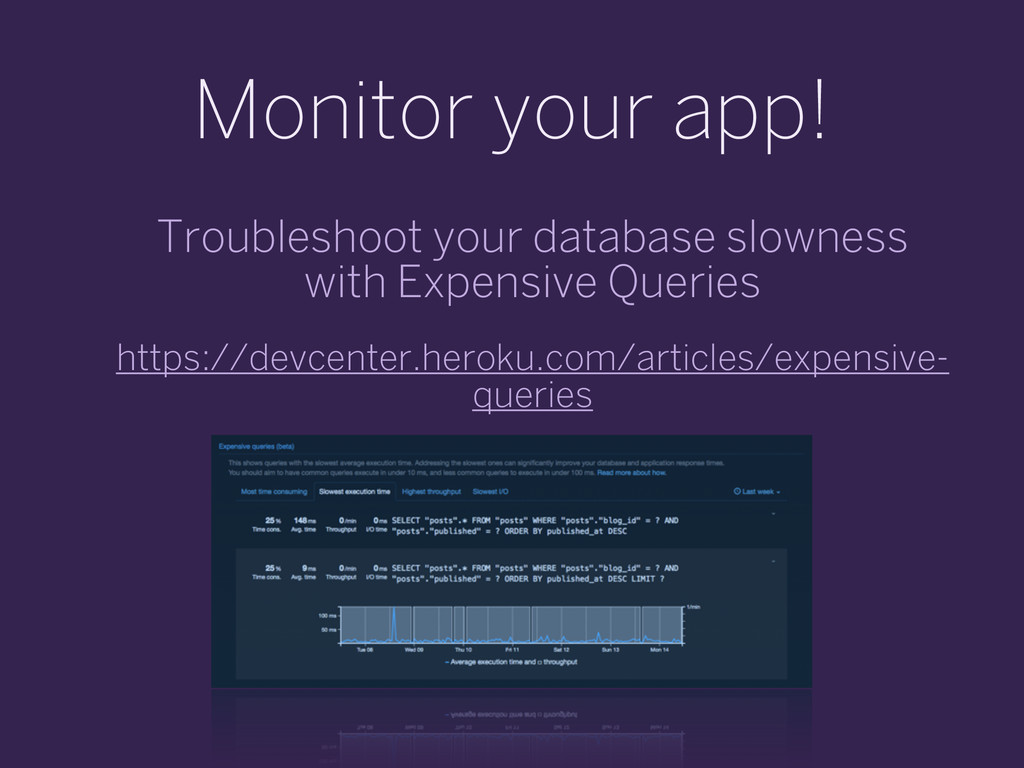 Monitor your app! Troubleshoot your database sl...