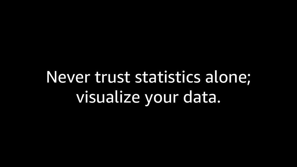 Never trust statistics alone; visualize your da...
