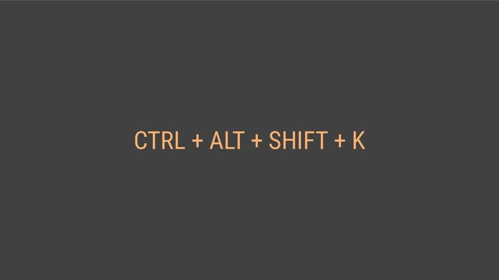 CTRL + ALT + SHIFT + K