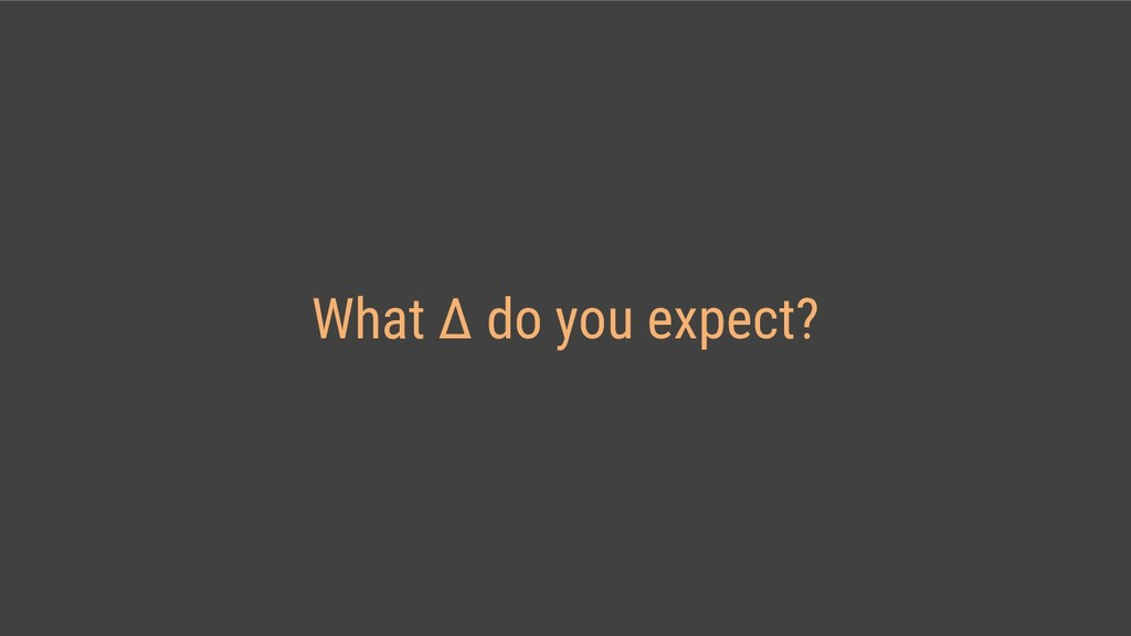 What Δ do you expect?