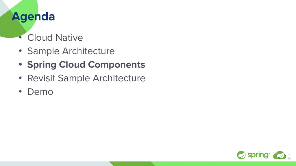 Agenda • Cloud Native • Sample Architecture • S...