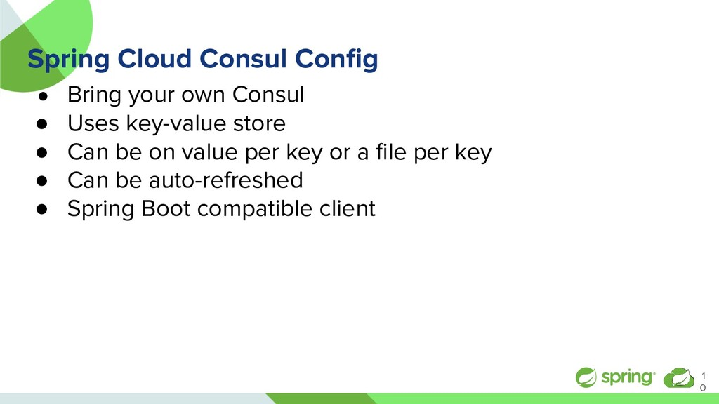 Spring Cloud Consul Config ● Bring your own Cons...