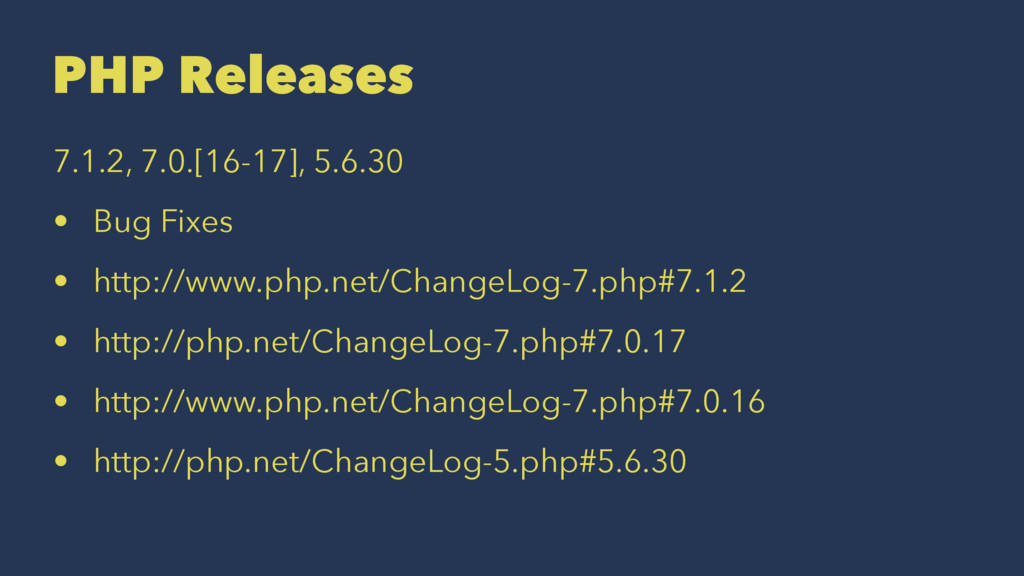 PHP Releases 7.1.2, 7.0.[16-17], 5.6.30 • Bug F...