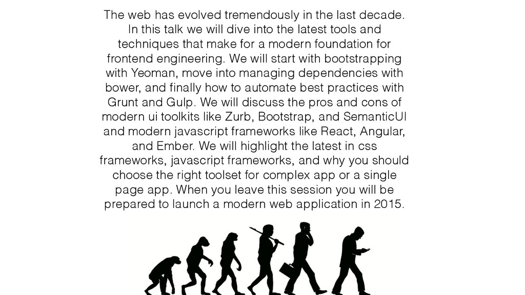 The web has evolved tremendously in the last de...