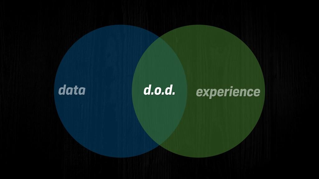 d.o.d. data experience