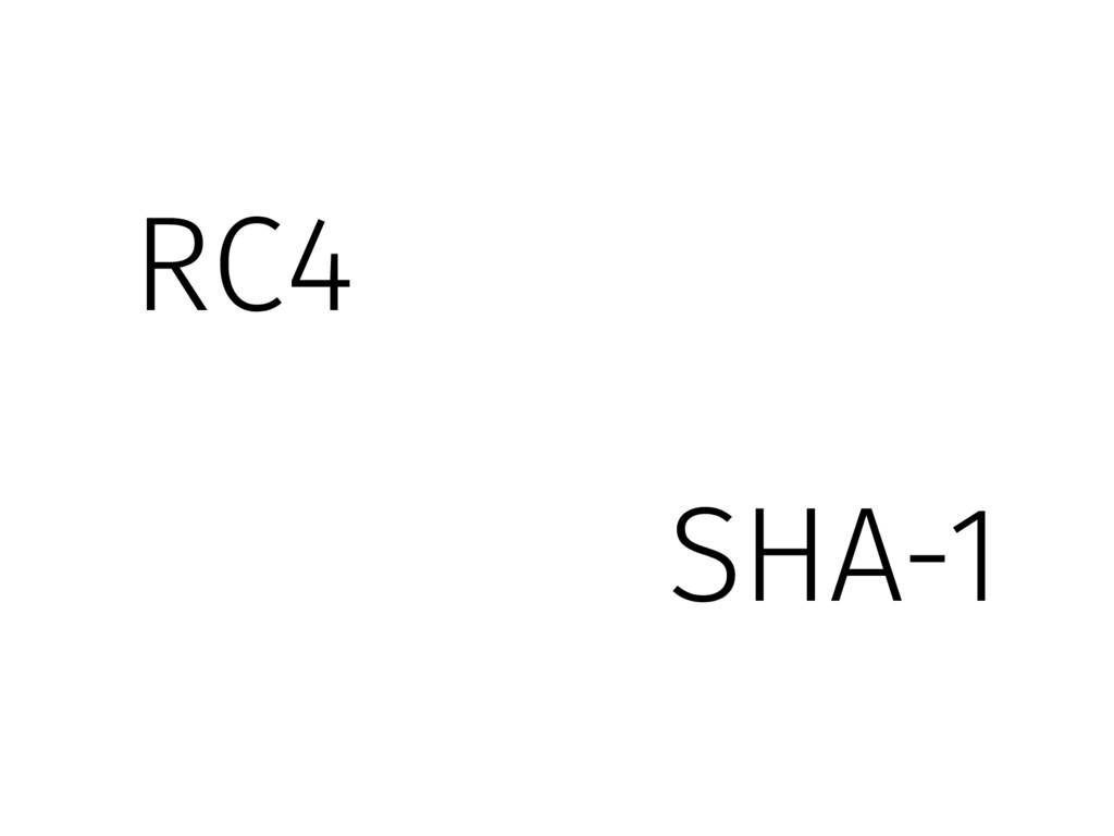 SHA-1 RC4