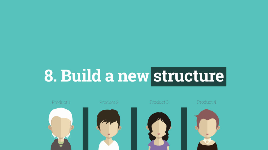 8. Build a new structure Product 1 Product 2 Pr...