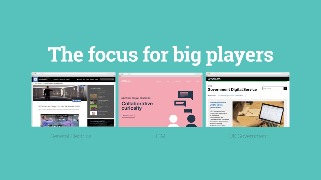 The focus for big players IBM UK Government Gen...