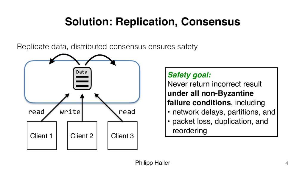 Philipp Haller Solution: Replication, Consensus...