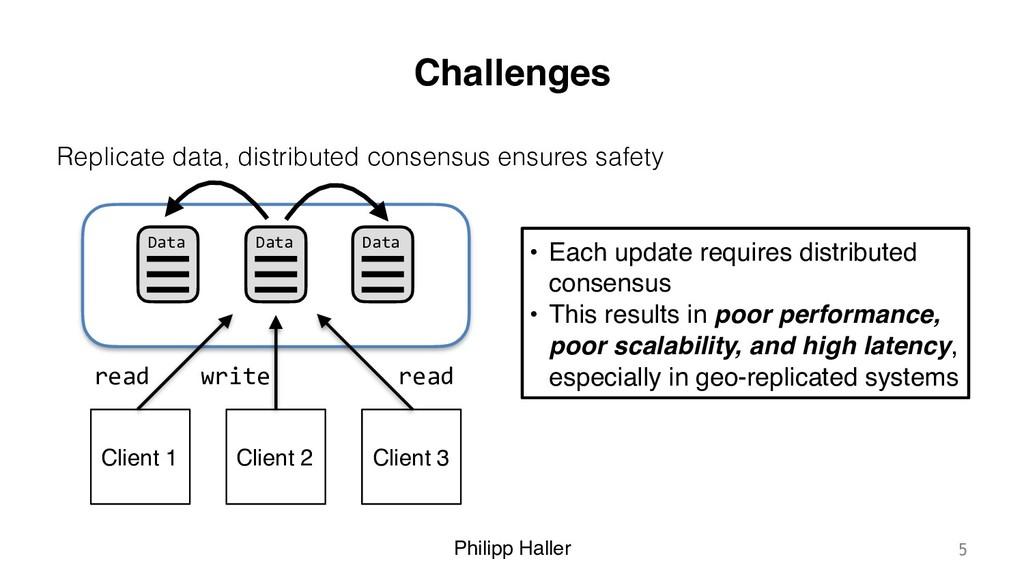 Philipp Haller Challenges Replicate data, distr...