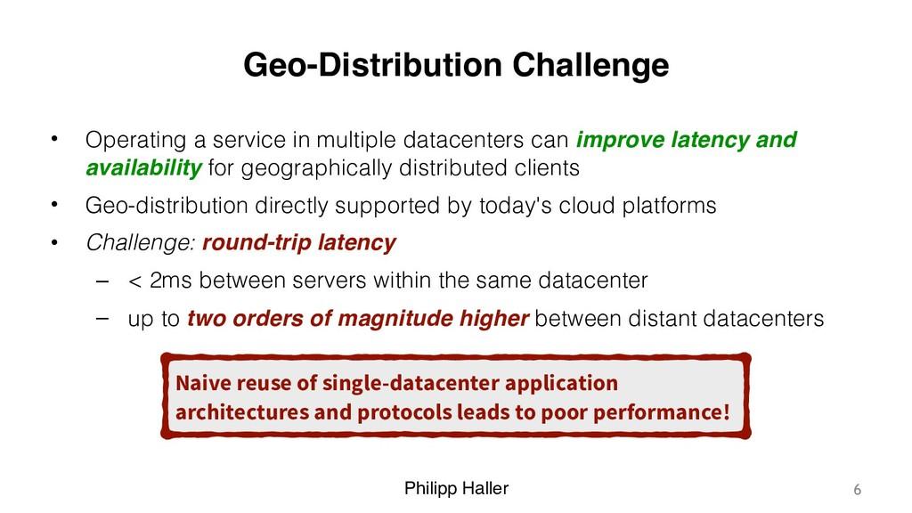 Philipp Haller Geo-Distribution Challenge • Ope...