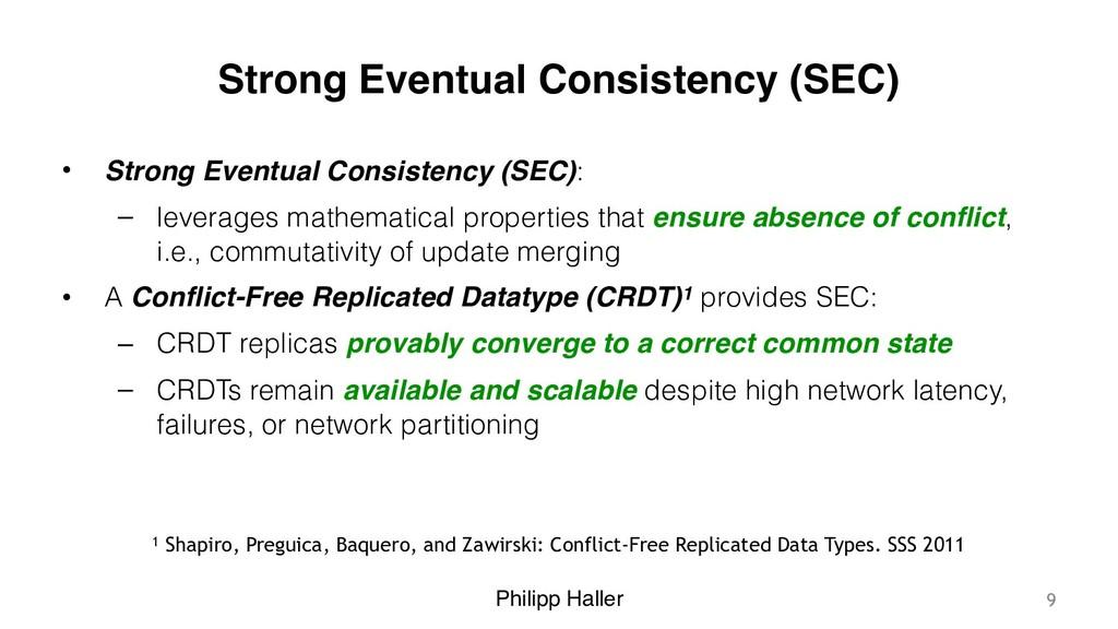 Philipp Haller Strong Eventual Consistency (SEC...
