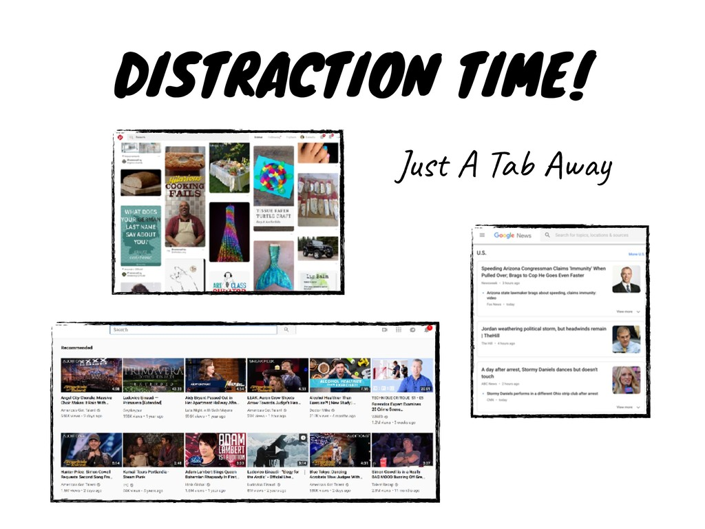 DISTRACTION TIME! Just A Tab Away