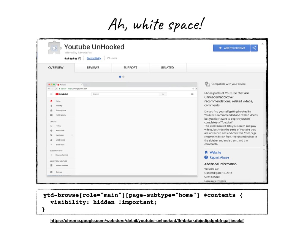 """Ah, white space! ytd-browse[role=""""main""""][page-s..."""