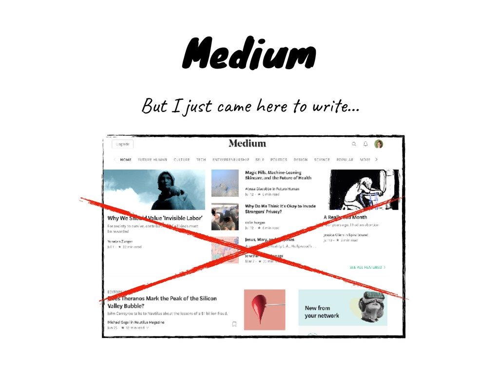 Medium But I just came here to write…