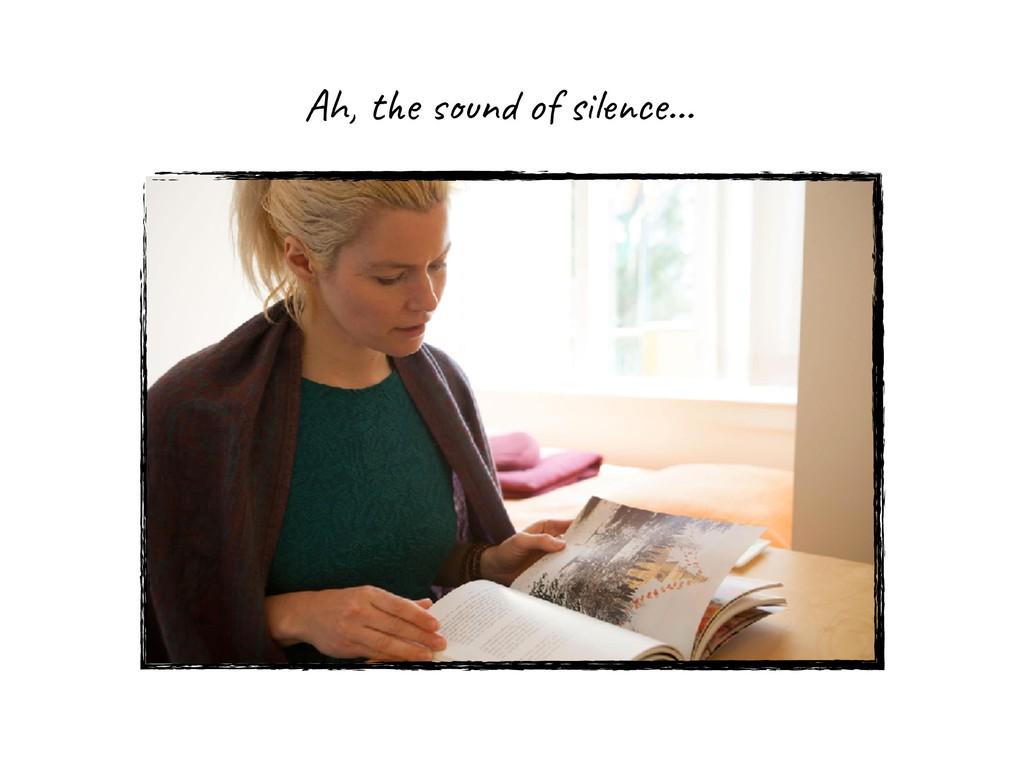 Ah, the sound of silence…