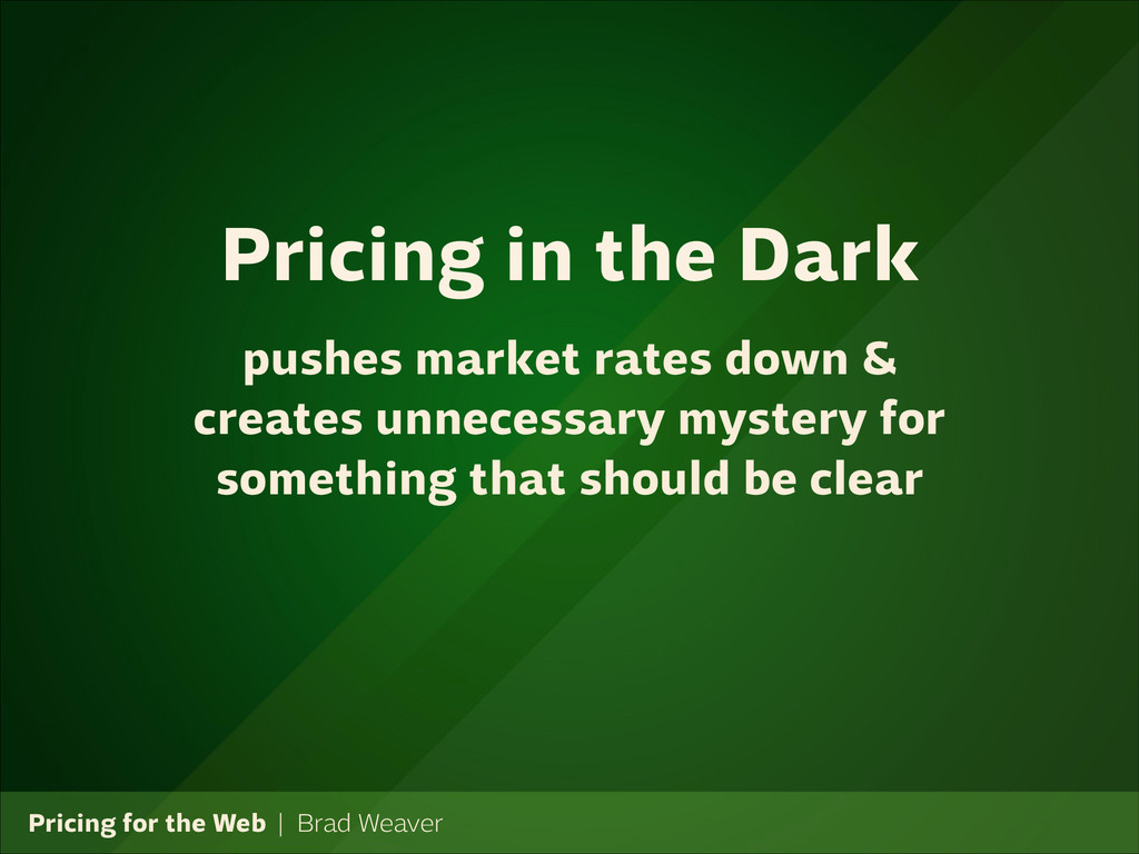 Pricing for the Web   Brad Weaver pushes market...