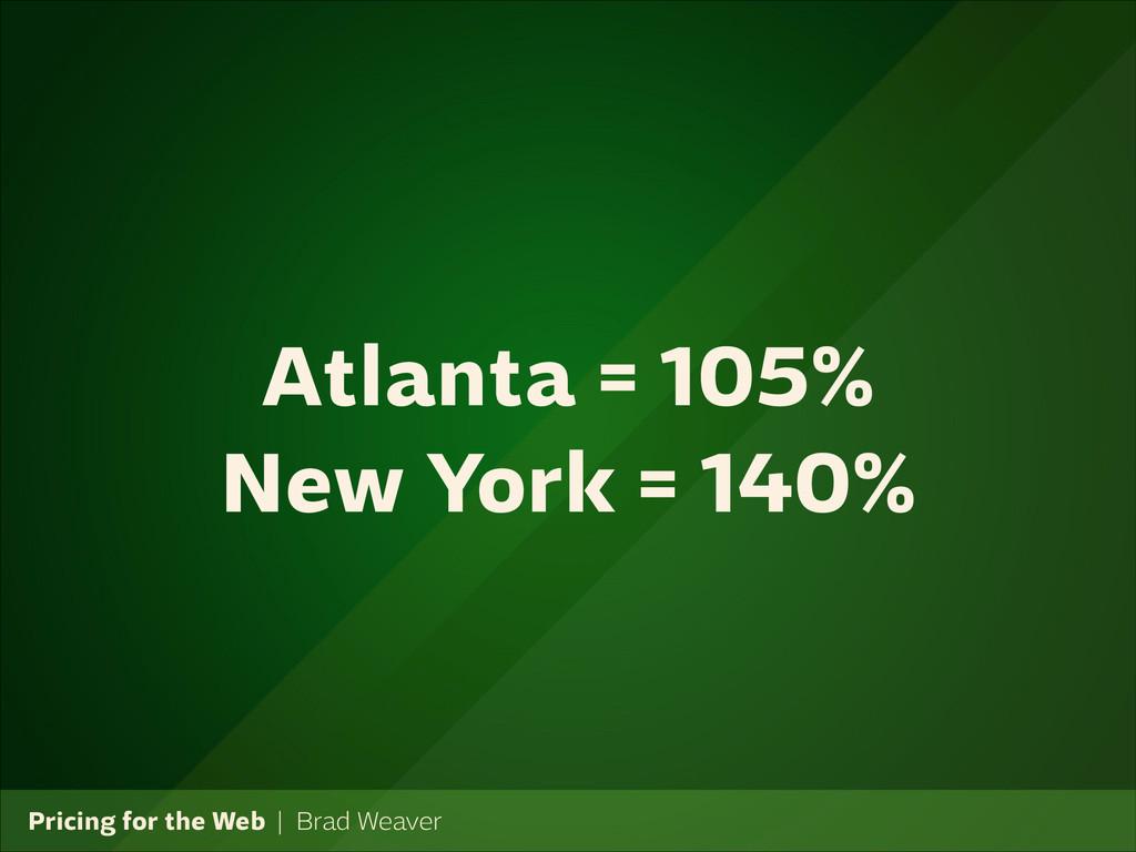 Pricing for the Web   Brad Weaver Atlanta = 105...