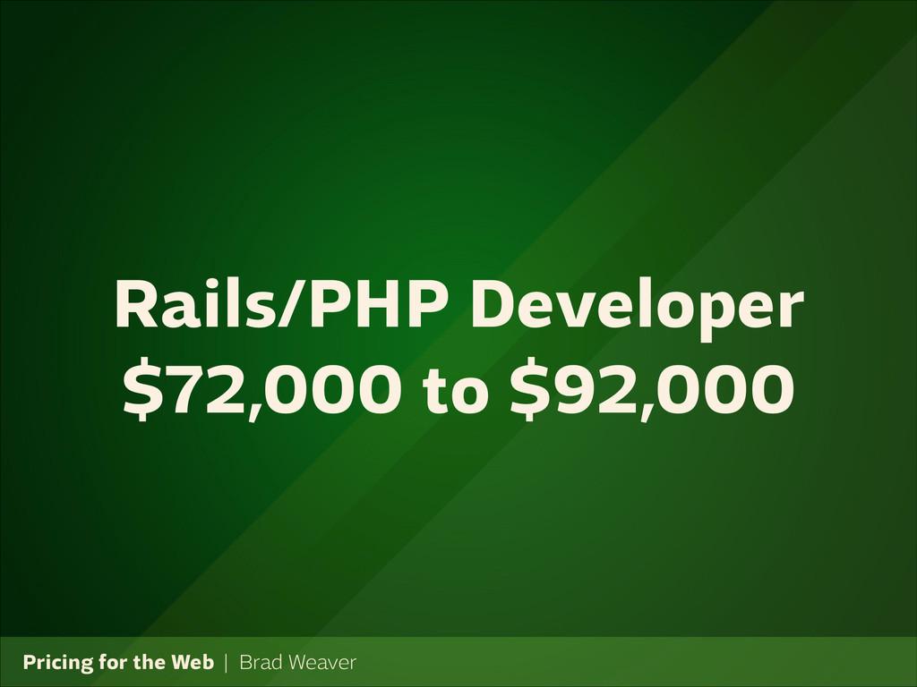 Pricing for the Web   Brad Weaver Rails/PHP Dev...