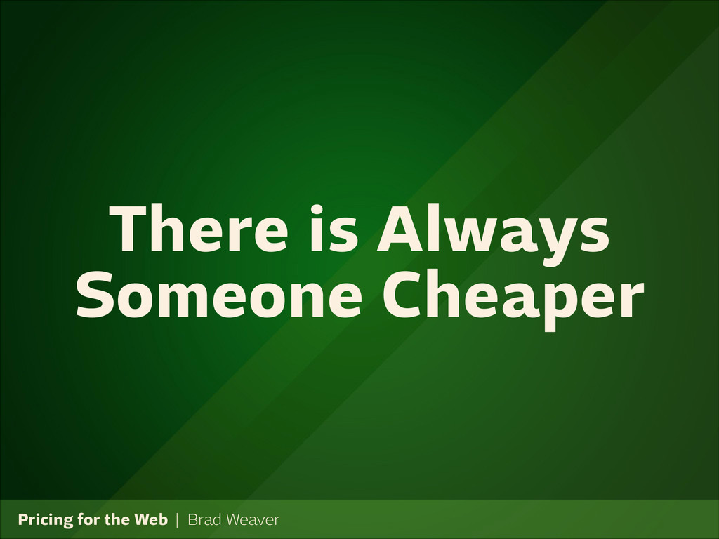 Pricing for the Web   Brad Weaver There is Alwa...