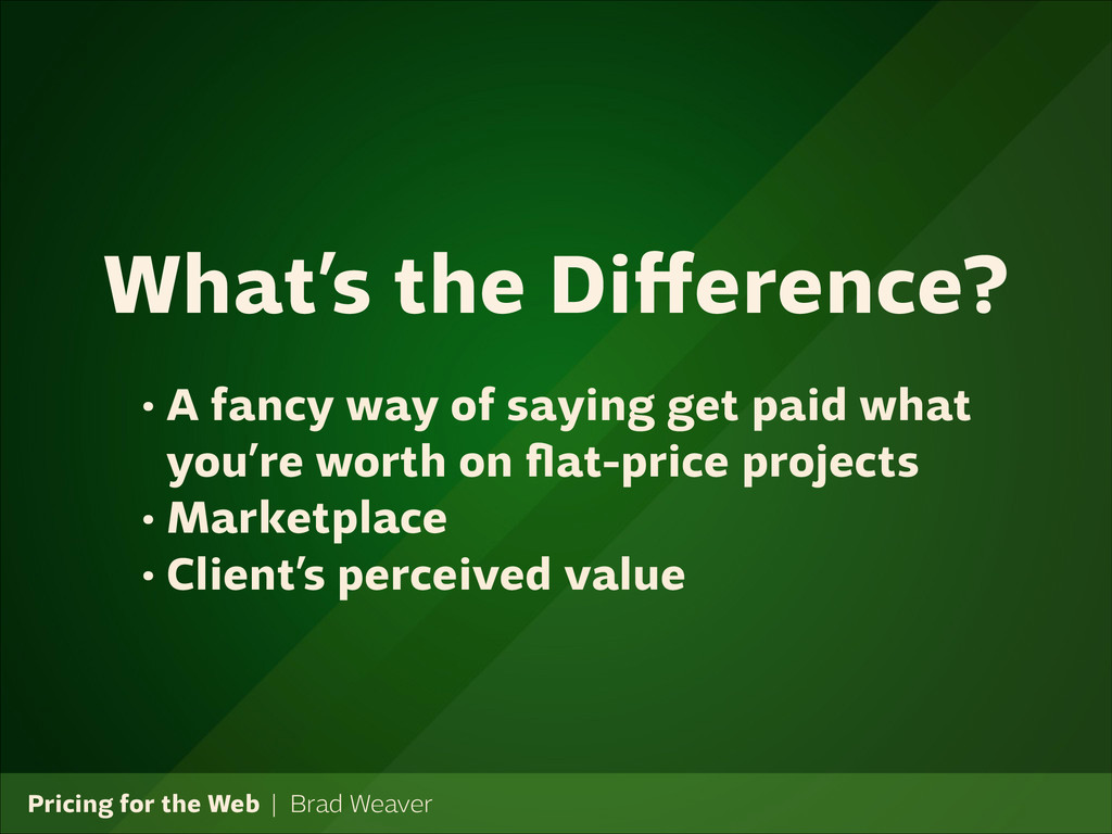 Pricing for the Web   Brad Weaver • A fancy way...