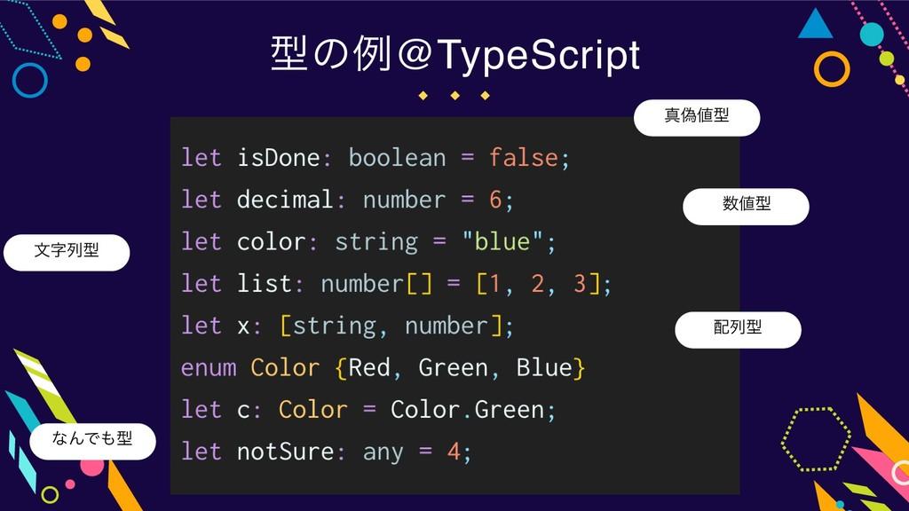 ܕͷྫ@TypeScript ਅِܕ จྻܕ ྻܕ ܕ ͳΜͰܕ