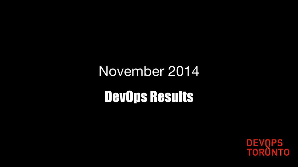 DevOps Results November 2014