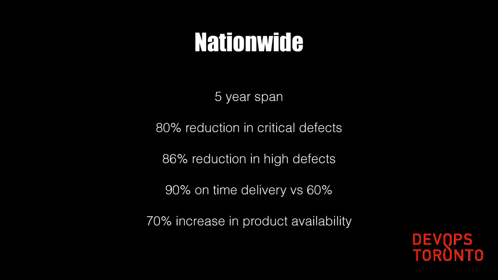 Nationwide 5 year span 80% reduction in critica...