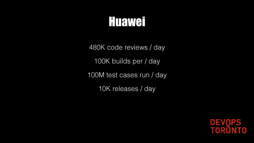 Huawei 480K code reviews / day 100K builds per ...