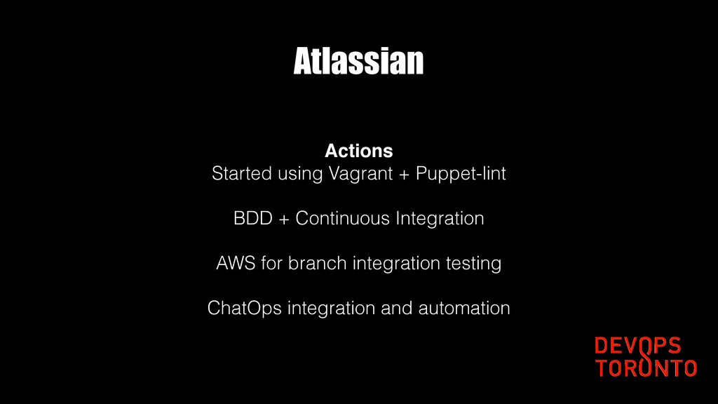 Atlassian Actions Started using Vagrant + Puppe...