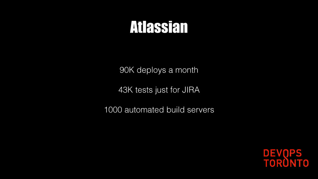Atlassian 90K deploys a month 43K tests just fo...