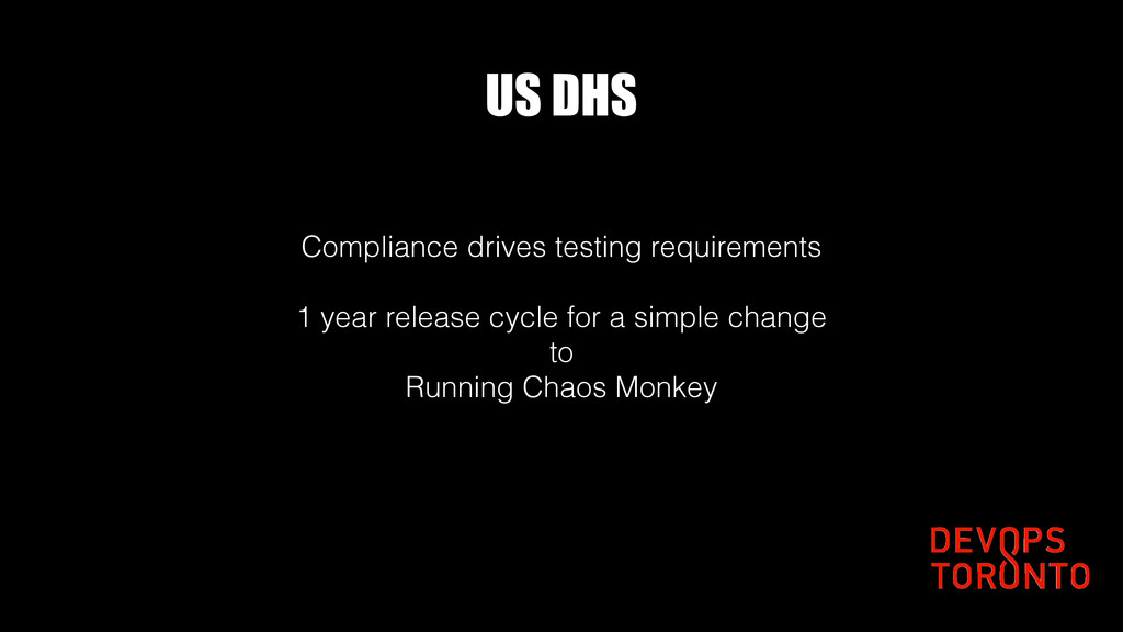 US DHS Compliance drives testing requirements 1...