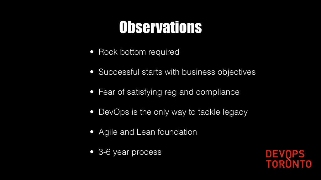 Observations • Rock bottom required • Successfu...