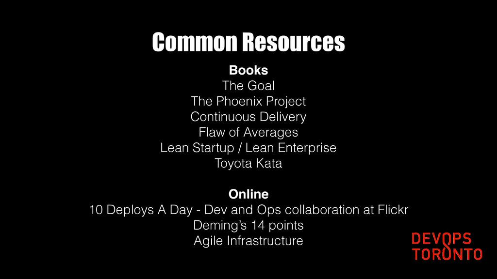 Common Resources Books The Goal The Phoenix Pro...